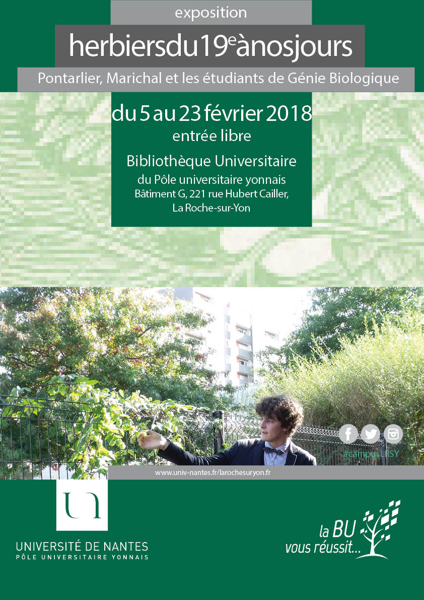 Affiche exposition Herbiers